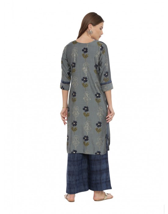Womens Grey Color Printed...
