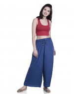 Women's Free Size Solid Cotton Plazo Pant