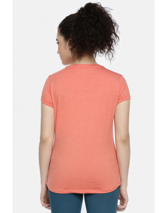 Womens Orange Color Printed...