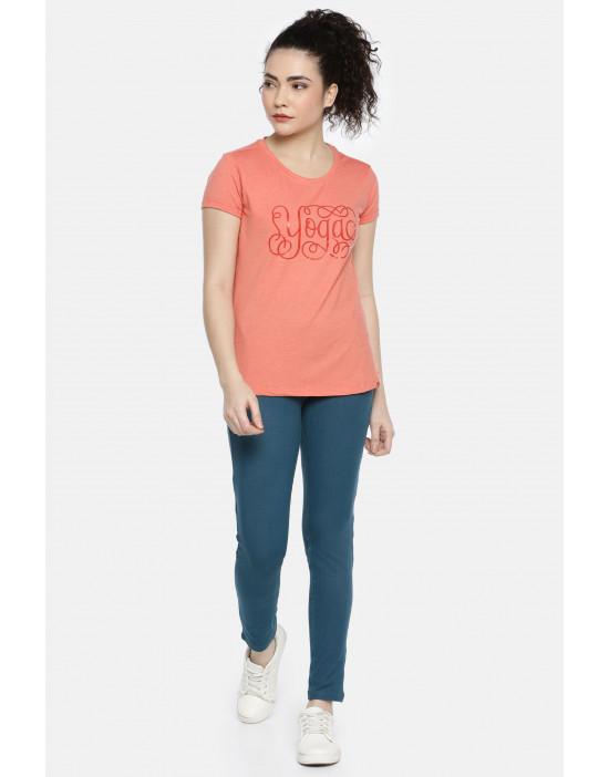 Womens Orange Color Printed...