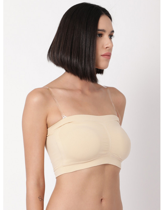 Padded Tube Top with...