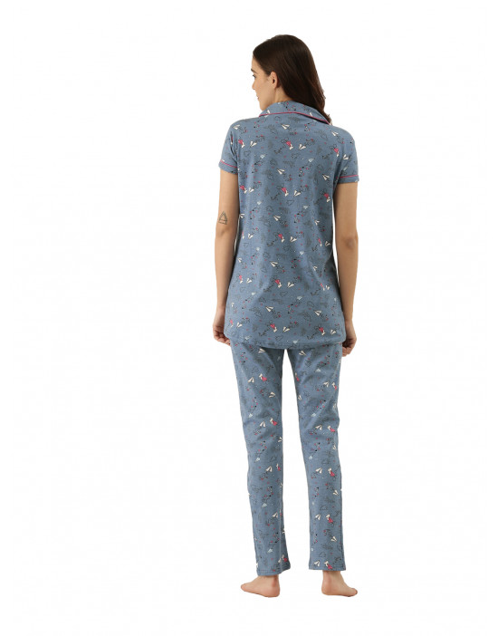 Womens Front Open Printed...