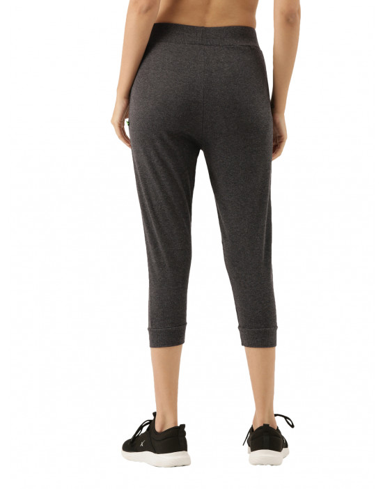 Womens Charcoal Solid...