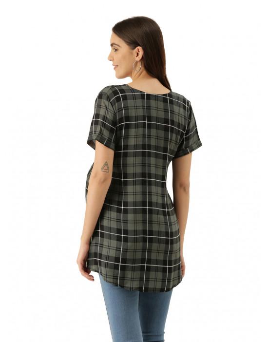 Womens Printed Maternity Tunic