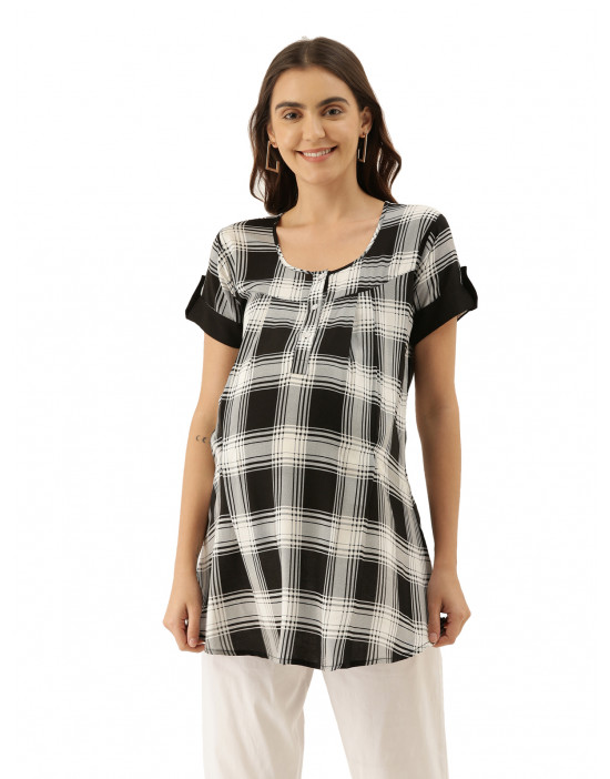 Womens Printed Maternity Tunic