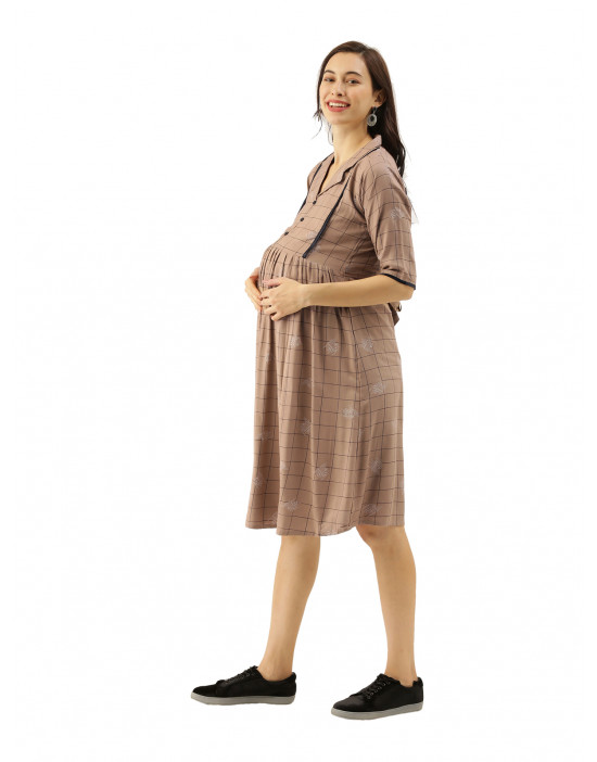 Womens Printed Knee Length...