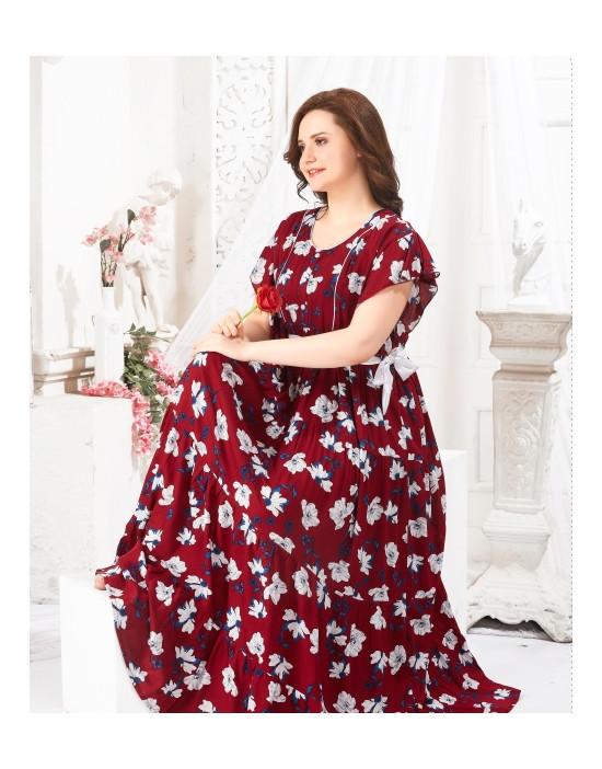 Womens Printed Ghagra Nighty
