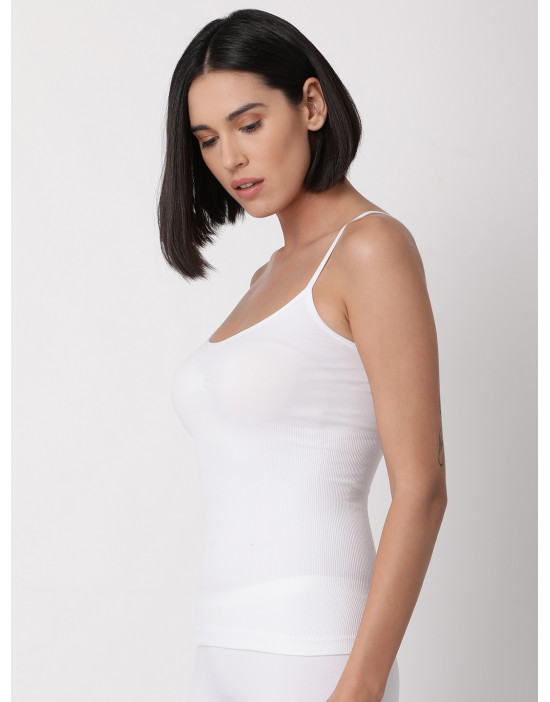Womens White Color Solid...