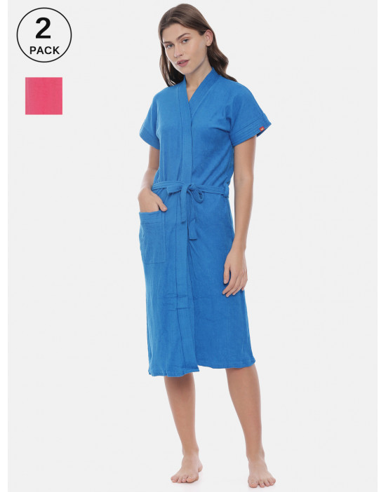 Womens Pack Of 2 Blue &...