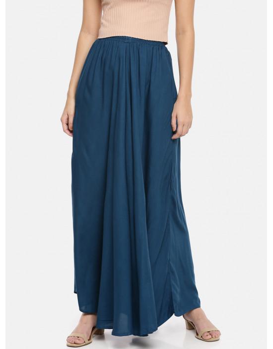 Womens Solid Skirt Palazzo