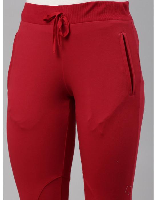 Womens Red Narrow Bottom...