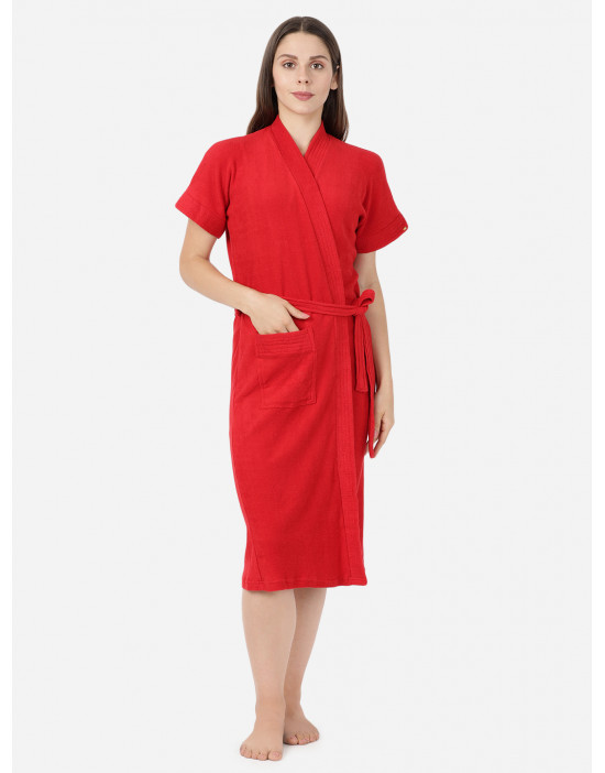Womens Red Color Plain...