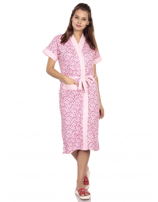 Women's Turkish Cotton Printed Bathrobe - Goldstroms