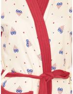 Women's Turkish Cotton Printed Bathrobe