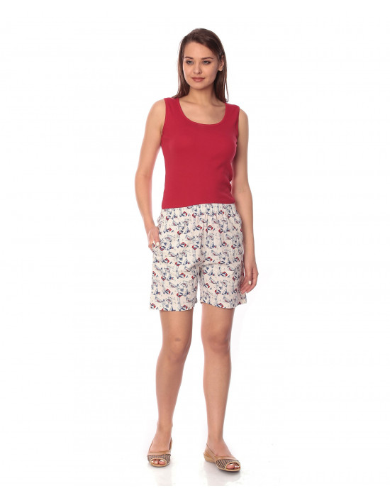 Women's Woven Cotton Short Regular Fit - Goldstroms