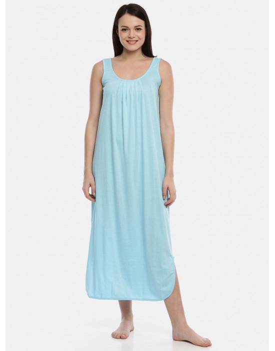 Womens Aqua Color Cotton...