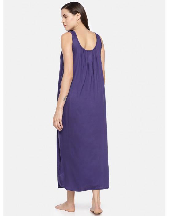 Womens Purple Color Cotton...