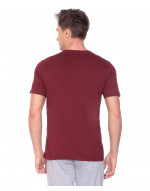 Men's Solid V-Neck and Half Sleeve Tshirt