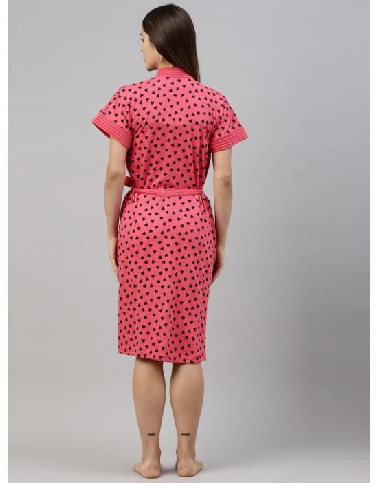 Womens Printed Bathrobe -...
