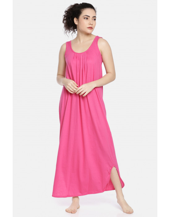 Womens Fuchsia Color Long...