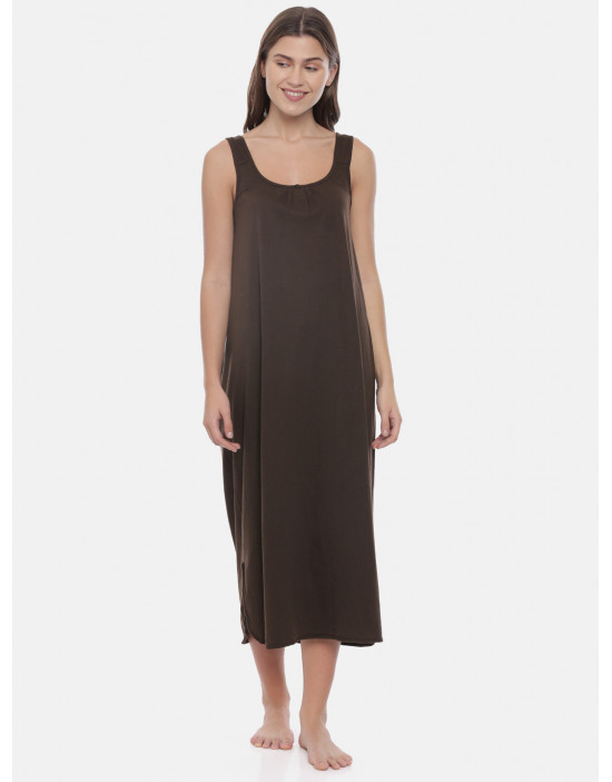 Womens Coffee Color Long...