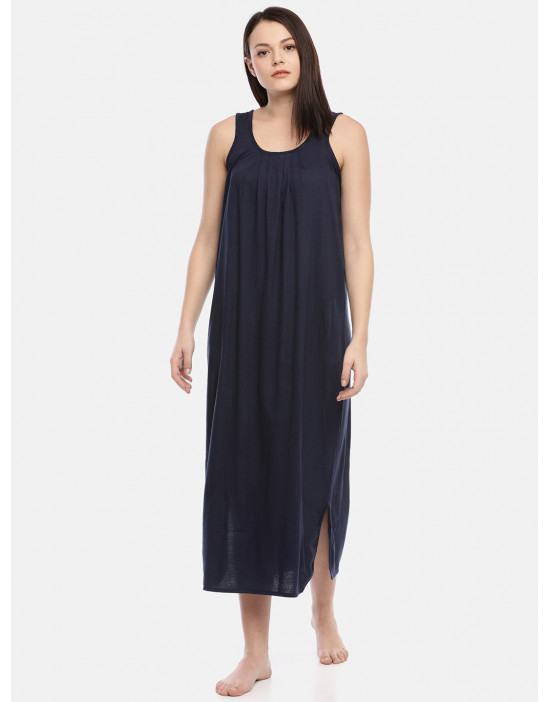 Womens Navy Blue Color Long...