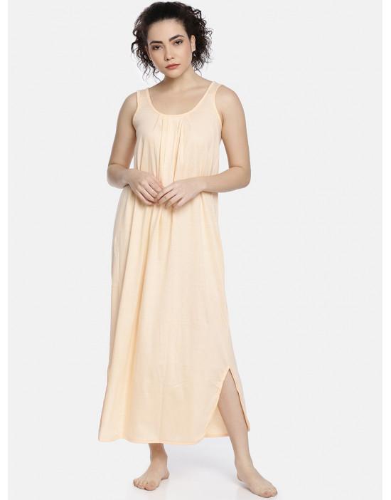 Womens Peach Color Long...