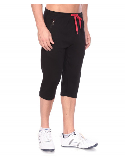 Men's Jogger Capri with Zipper Pocket and Flap Back Pocket