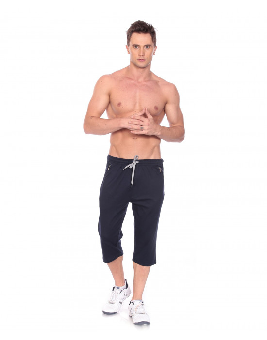 Men's Jogger Capri with Zipper Pocket & Flap Back Pocket - Goldstroms