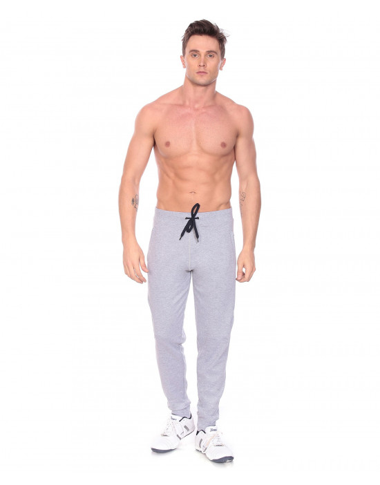 Men's Solid Cotton Rib Jogger Track Pant - Goldstroms