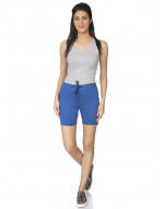 Women's Slim Fit Shorts with Zipper Pocket