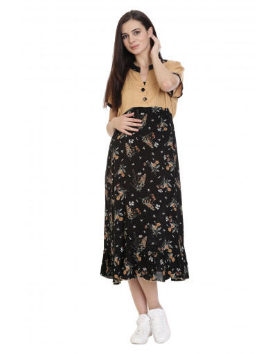 Women's Minelli Maternity Kurti With Vertical Zipper - Goldstroms