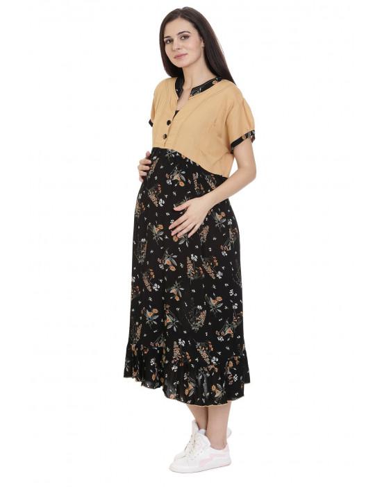 Minelli Maternity/Nursing Kurti with Vertical Zipper