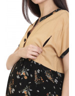 Minelli Maternity/Nursing Kurti with Vertical Zipper