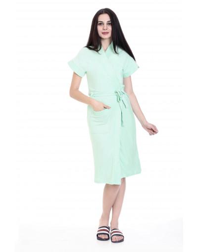 Women's Turkish Cotton Plain Bathrobe & Pocket - Goldstroms