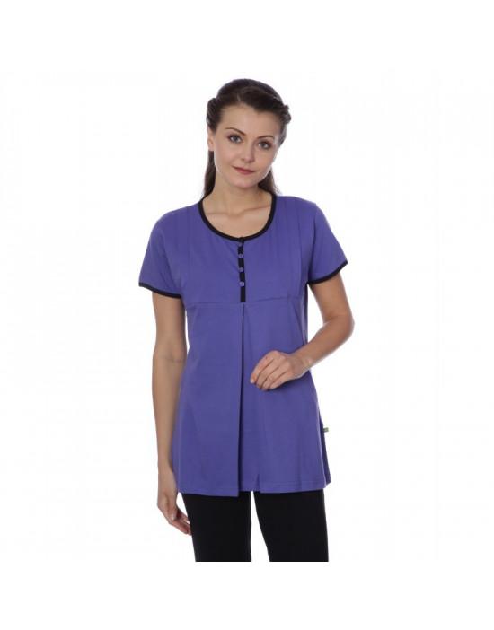 Women's Minelli V-Neck Front Top Zip Nightwear Dress - Goldstroms