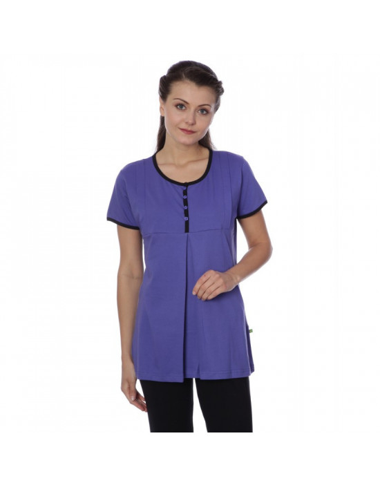 Women's Minelli U-Neck Front Top Zip Nightwear - Goldstroms