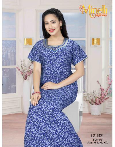Women's Minelli U-Neck Design Nightwear Dress - Goldstroms