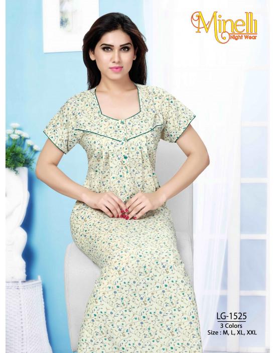 Women's Minelli Sweet Heart Neck with Front Top Button Nightwear - Goldstroms