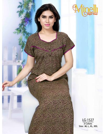 Women's Minelli Sweet Heart Neck Nightwear Dress - Goldstroms