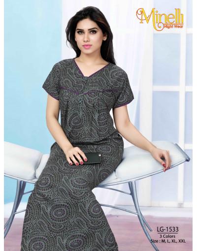 Women's V-Neck Multi Color Nightwear Dress - Goldstroms