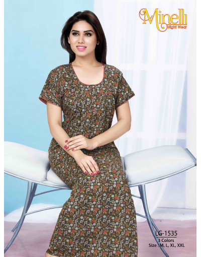 Minelli Women's Multicolored U-Neck Nightwear - Goldstroms