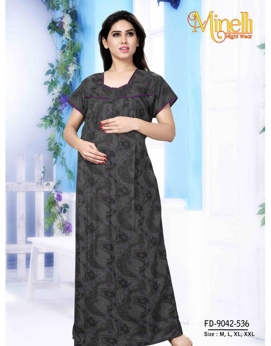 Pre and Post Maternity Feeding Nightwear Dress - Goldstroms