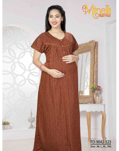 Minelli Long Length Pre and Post Maternity Nighty - Goldstroms