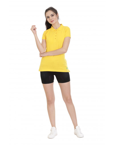 Casual Polo Collar Long Sleeves T-Shirt For Women - Goldstroms