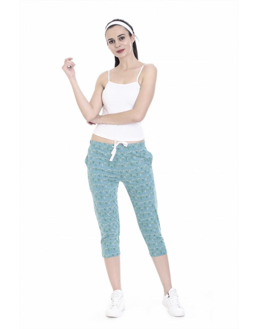 Women's Printed Capri with Zipper Pockets