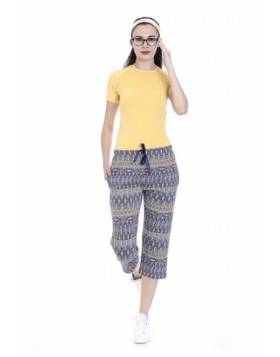 Women's Sports Wear Capri with Zipper Pockets - Goldstroms