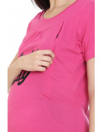 Women's Long Maternity/Feeding/Nursing Tee