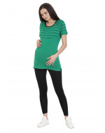Long Maternity/Feeding/Nursing Tee with Horizontal Zipper
