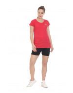 Women's Yoga/Sports Solid Slub Cotton T-Shirt